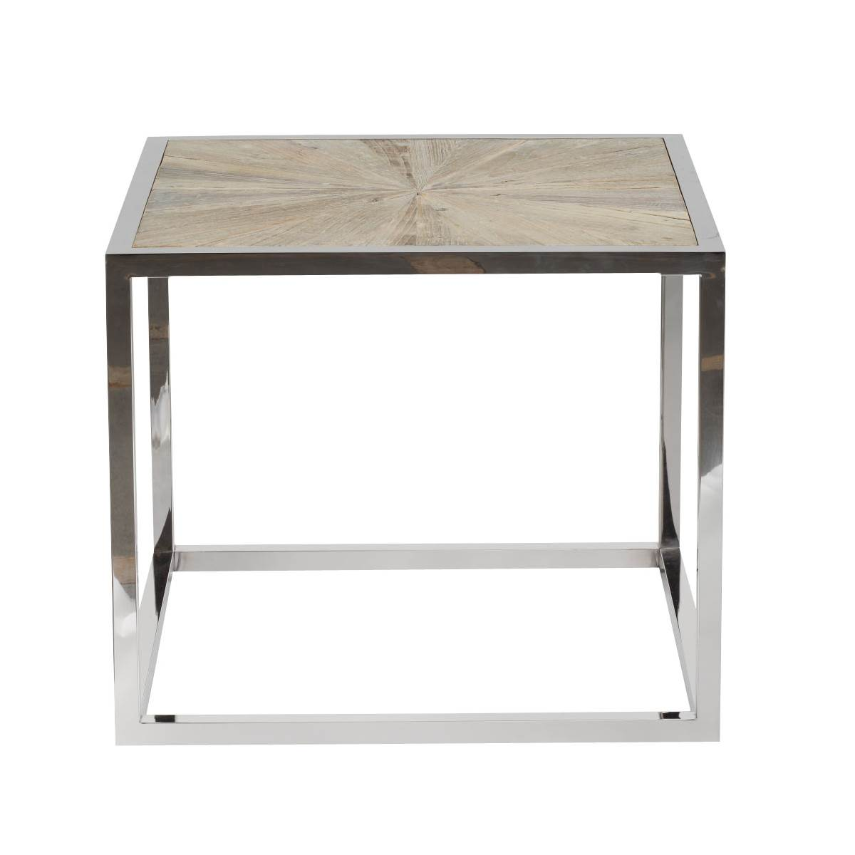 Parquet End Table - Smoke Gray - 1
