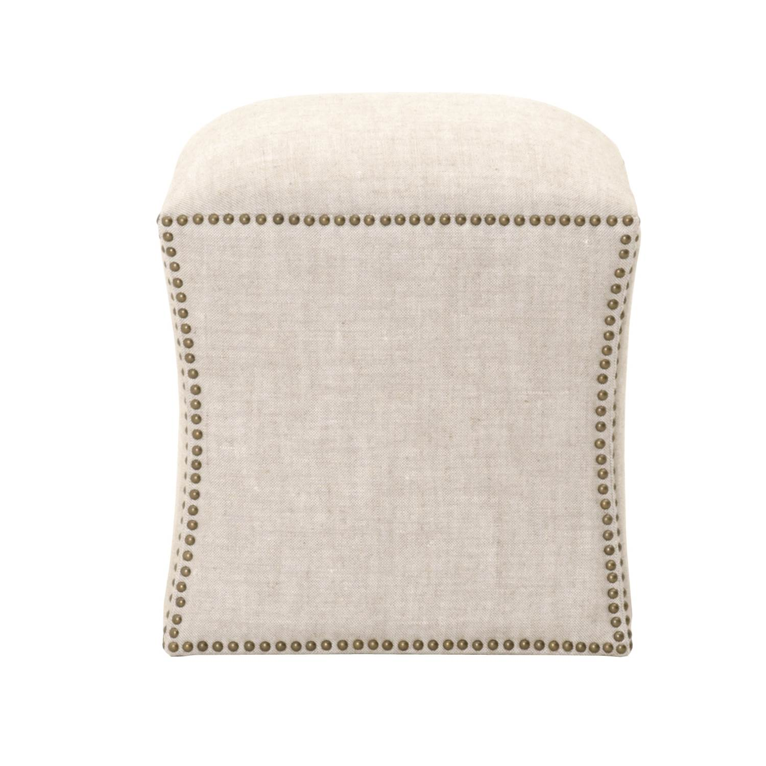 York Square Footstool - Bisque - 1