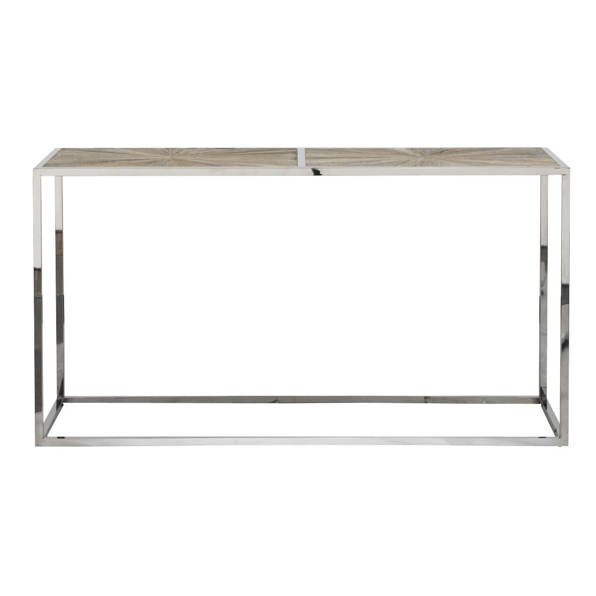 Parquet Console Table - Smoke Gray - 1