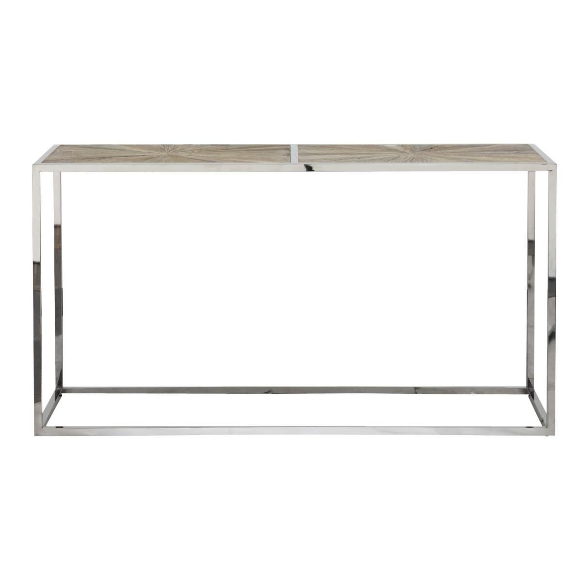 Parquet Console Table - Smoke Gray - 1