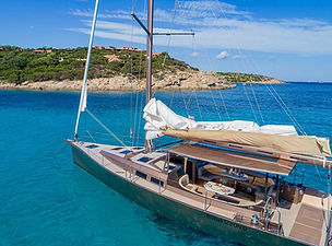 luxury sailing yacht rent sardinia poltu quatu