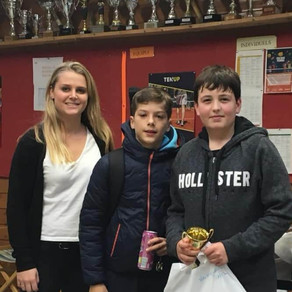 Bravo à Pierre qui remporte le tournoi de Toussaint en 11 / 12 ans