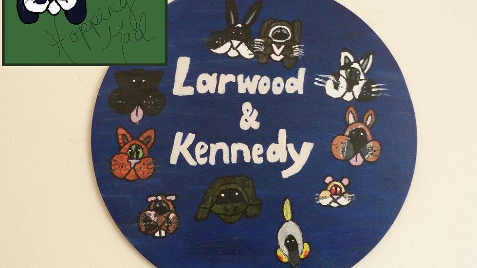 Circular Pet Plaque (Extra Large)