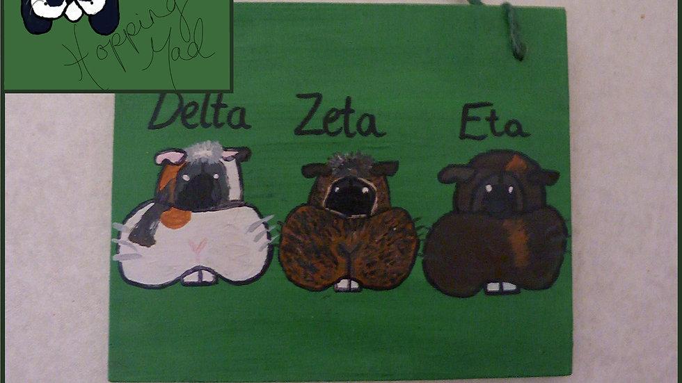 3 Pet Name Plaque
