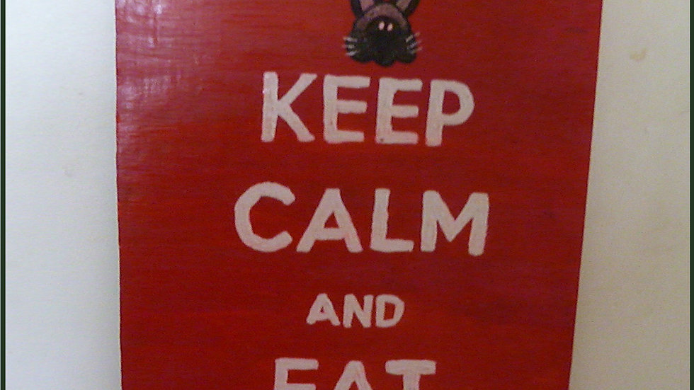 """Keep Calm"" Bespoke Plaque"