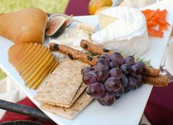 Artisan cheeses with seasonal fruit