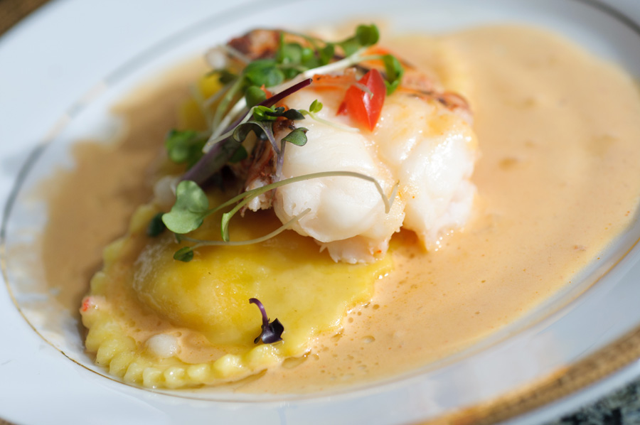 Butter Poached Lobster Medallions