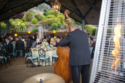 Jazz band entertaining guests