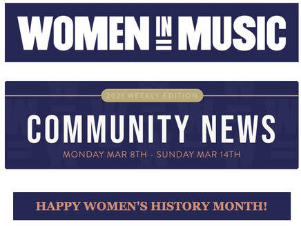 EP Release Featured in WOMEN IN MUSIC Newsletter