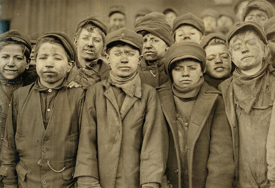 Young coal minor boys.