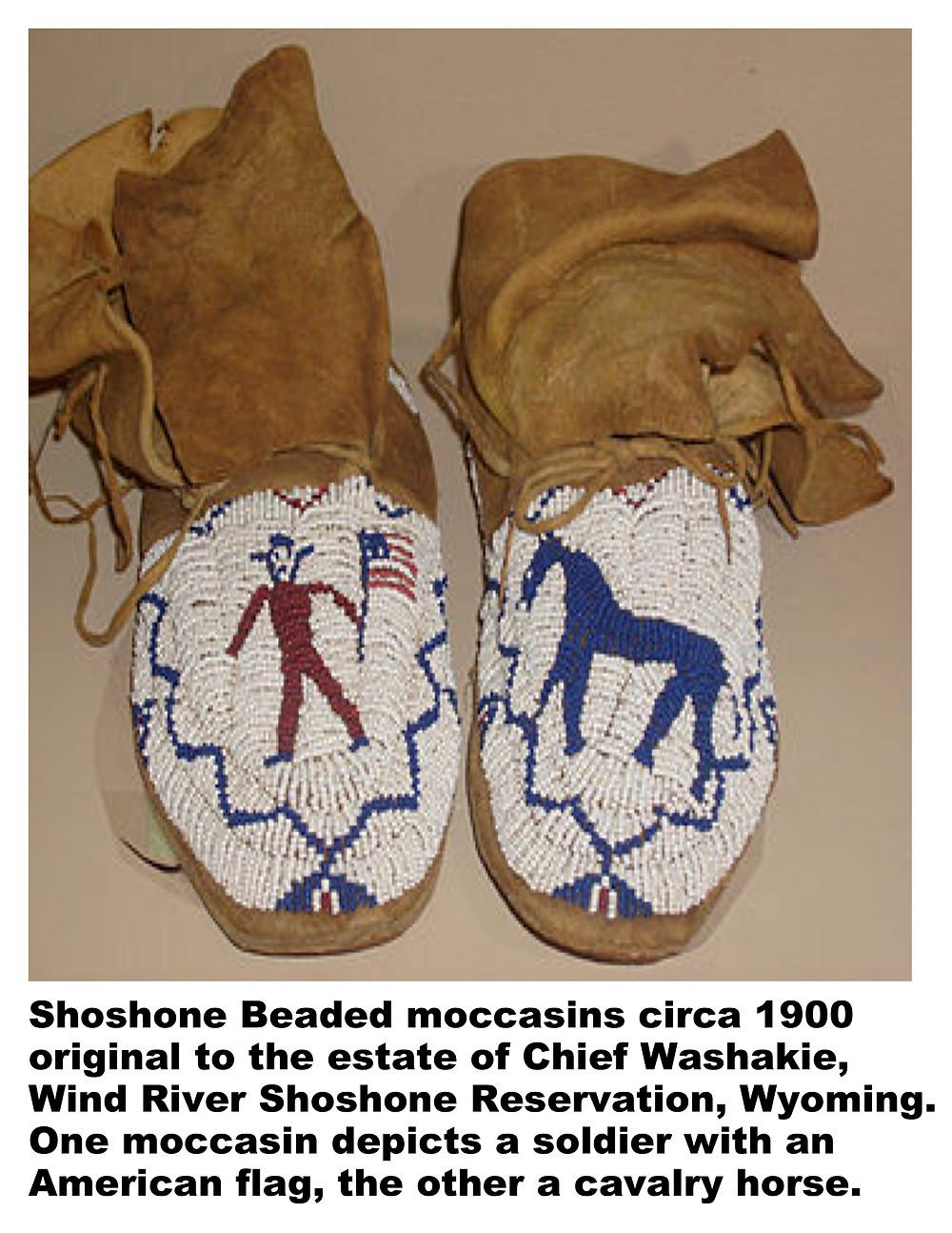 Shoshone beaded moccasins.