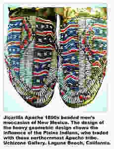Jicarilla Apache beaded men's moccasins.