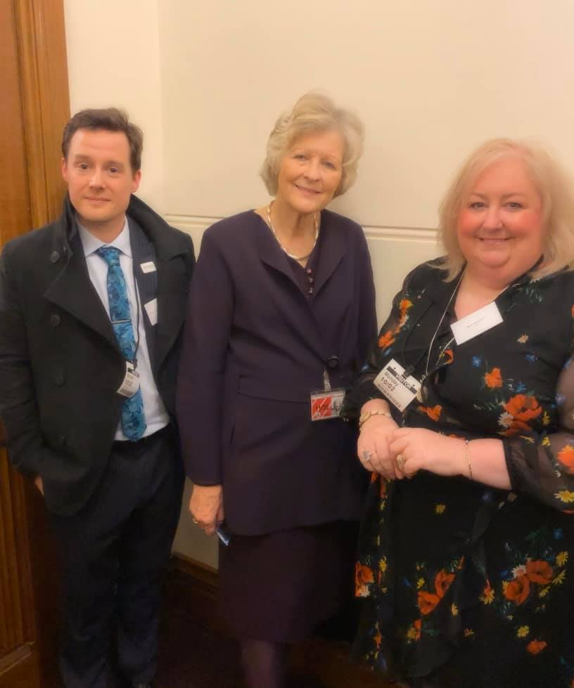 Beth with Nick Hobbs and Baroness Hollins