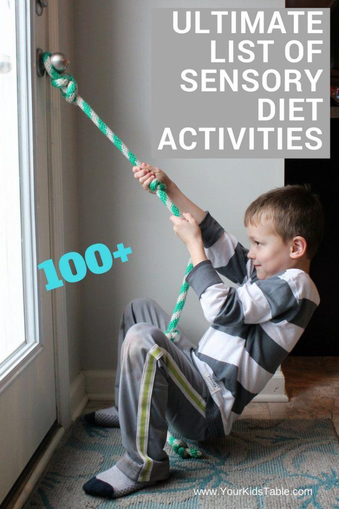 List of Sensory Diet Activities