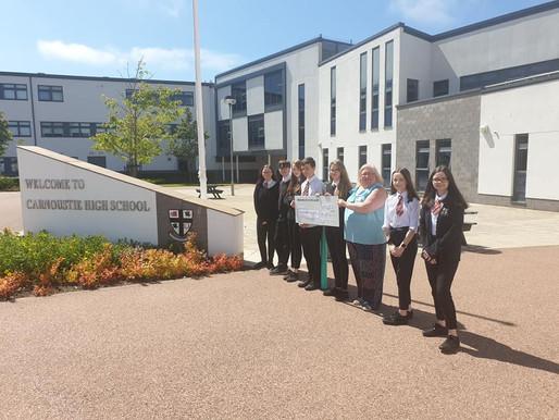 Carnoustie high school raise £120 for PABSS