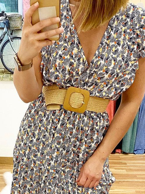 Cinturón elástico hebilla cuadrada