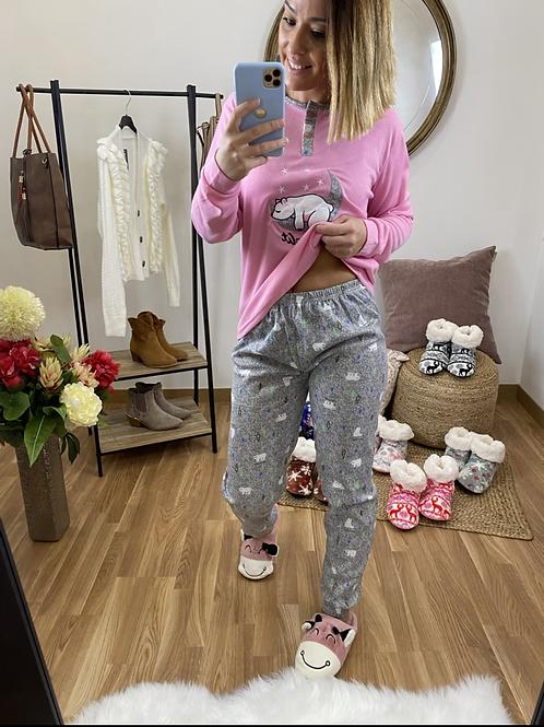 Pijama luna polar rosa
