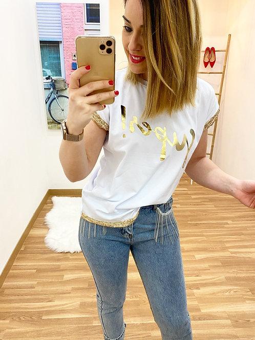 Camiseta súper oro