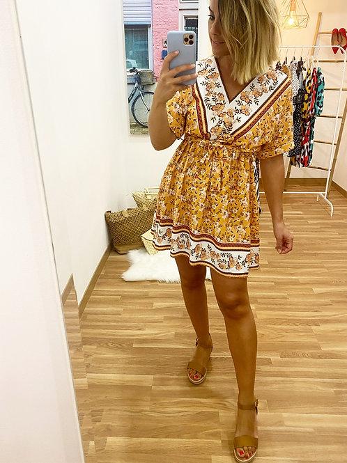 Vestido Suhaila mostaza