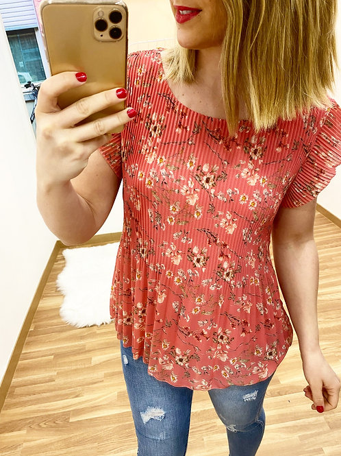 Blusa Amadeo coral