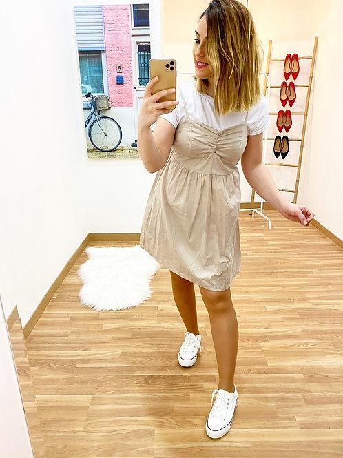 Vestido Amanda beige