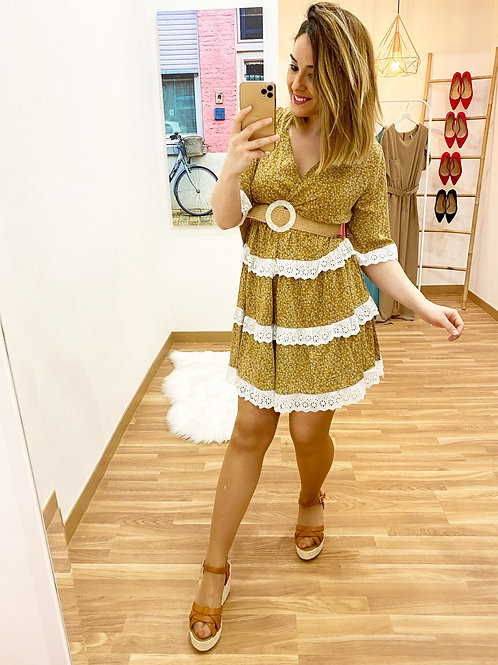 Vestido La Toscana mostaza