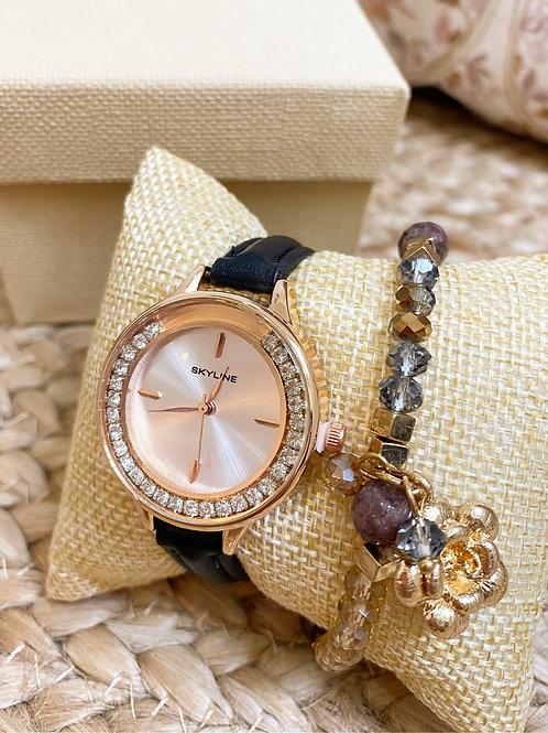 Reloj y pulsera para mujer