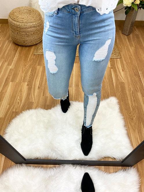 Jeans pedrería