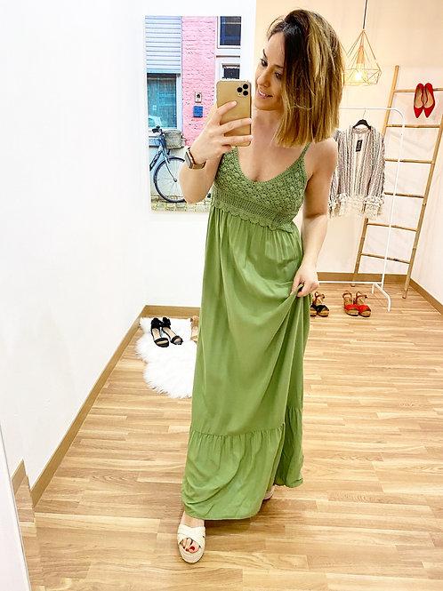 Vestido Jazmín verde
