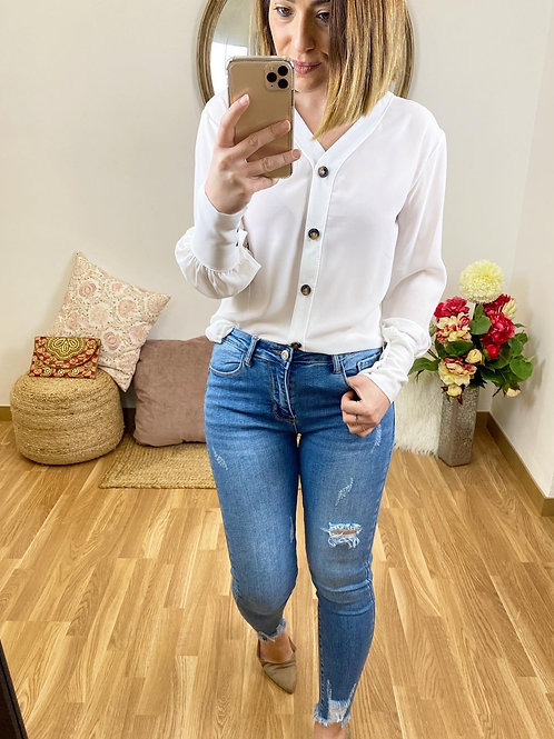 Blusa Paola blanca