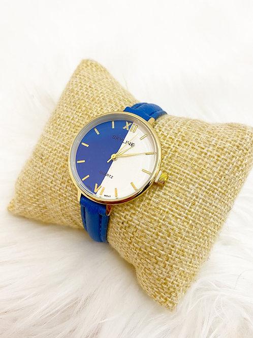 Reloj duo azul y blanco