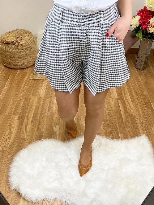 Short Camila negro y blanco
