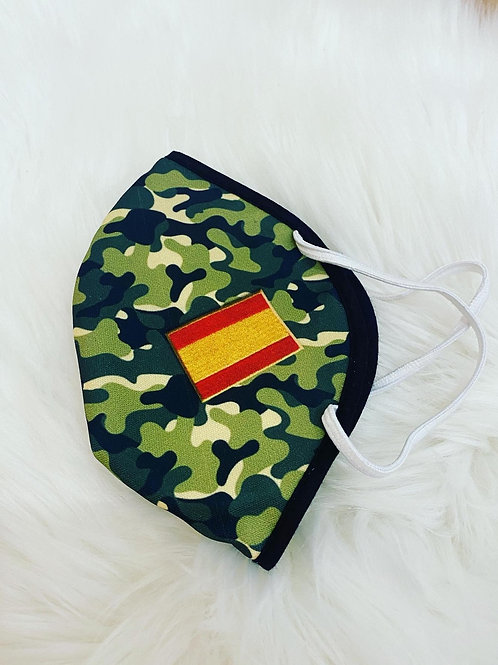 Mascarilla camuflaje verde bandera