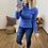 Thumbnail: Sueter punto cuello vuelto azul