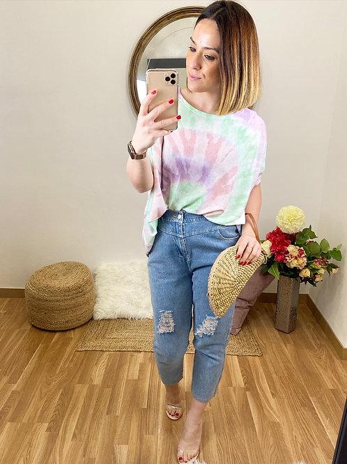 Suéter Tie Dye lila