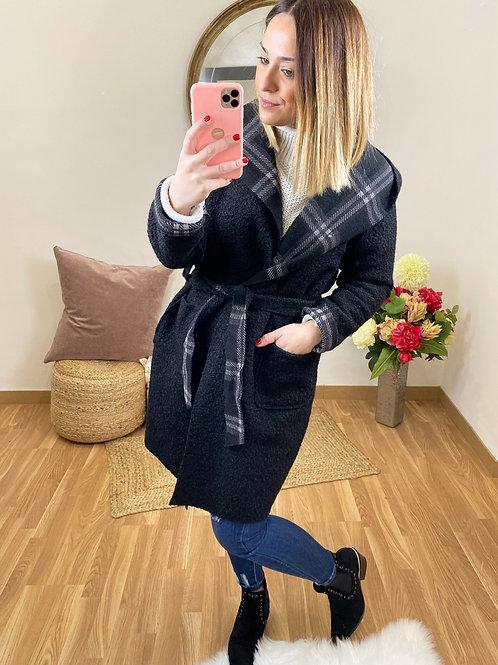 Abrigo borreguito negro