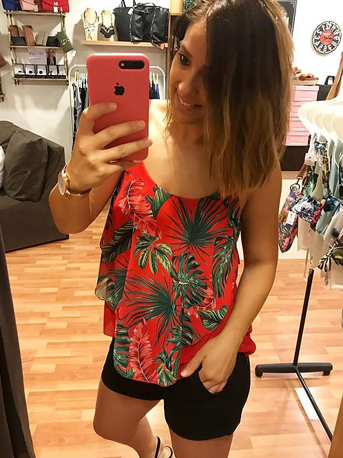 BLUSA TROPICAL ROJA