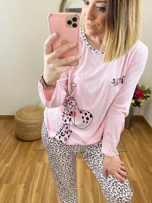 Pijama jirafa Rosa