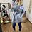 Thumbnail: Abrigo paño bolsillos gris