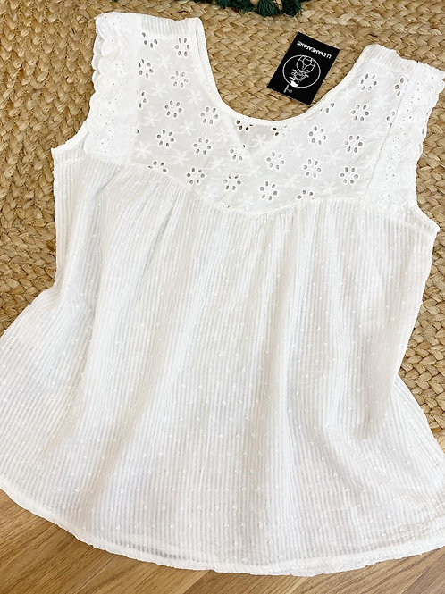 Blusa brisa marina blanca