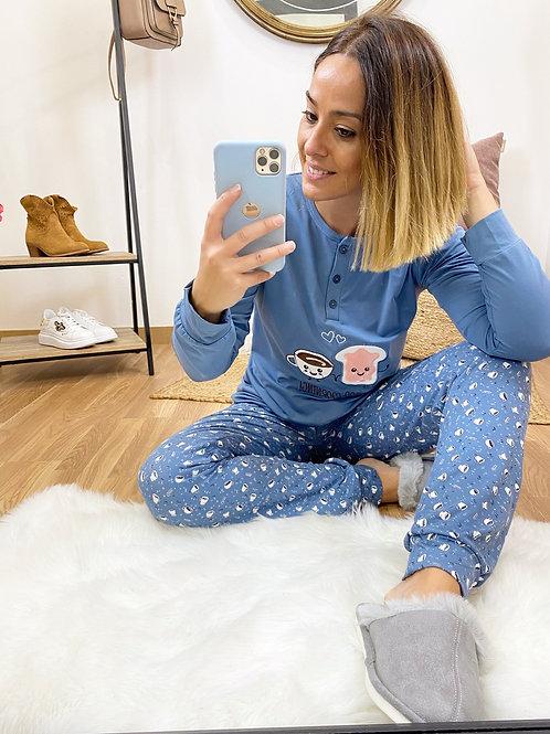 Pijama Good Morning marino
