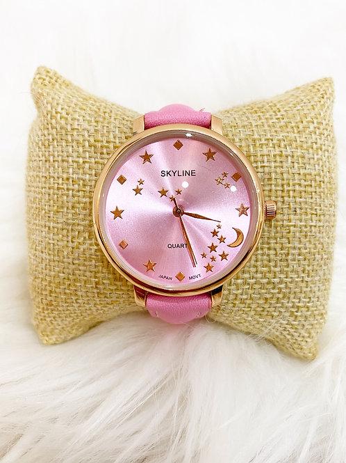 Reloj estrellas rosa