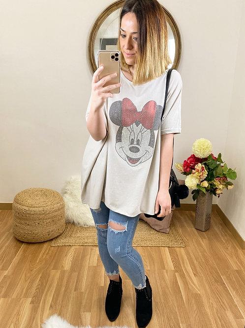 Camiseta Minnie crema