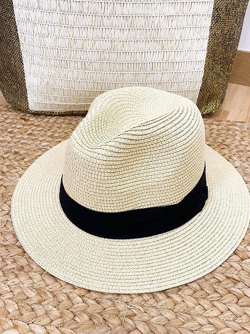Sombrero lazo negro