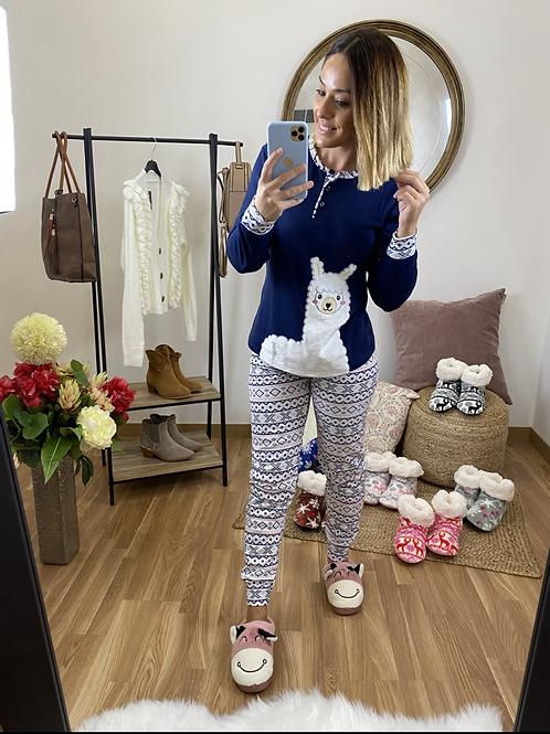 Pijama llama marino