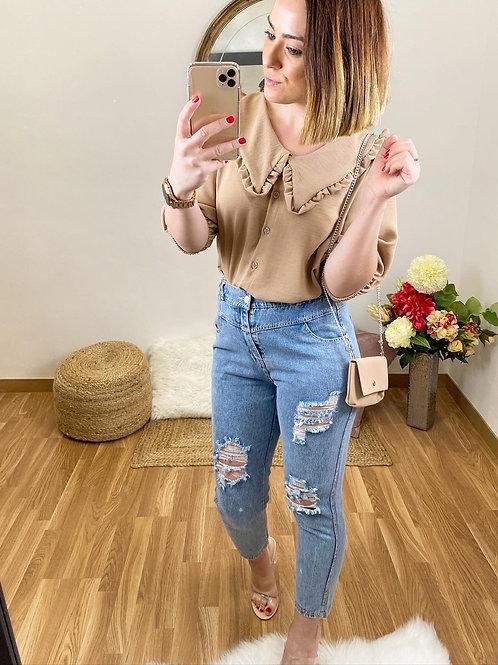 Camisa Rocío camel
