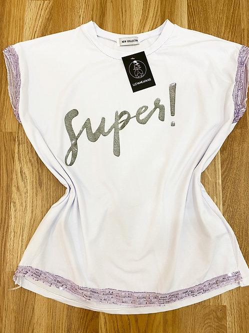 Camiseta súper lila