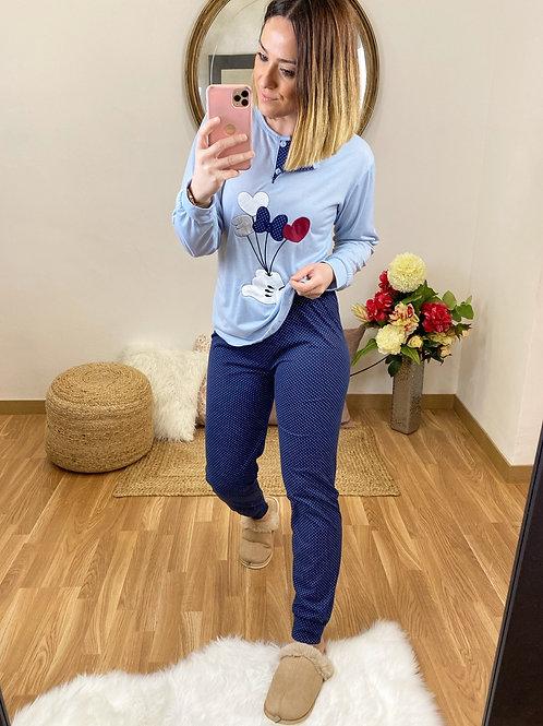 Pijama lazo Love azul