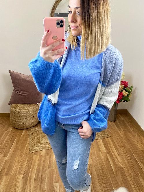 Cárdigan rayas azul