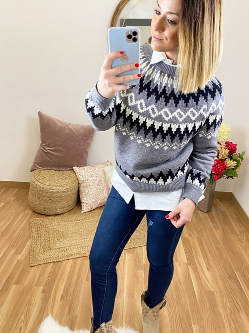 Suéter Sofía gris